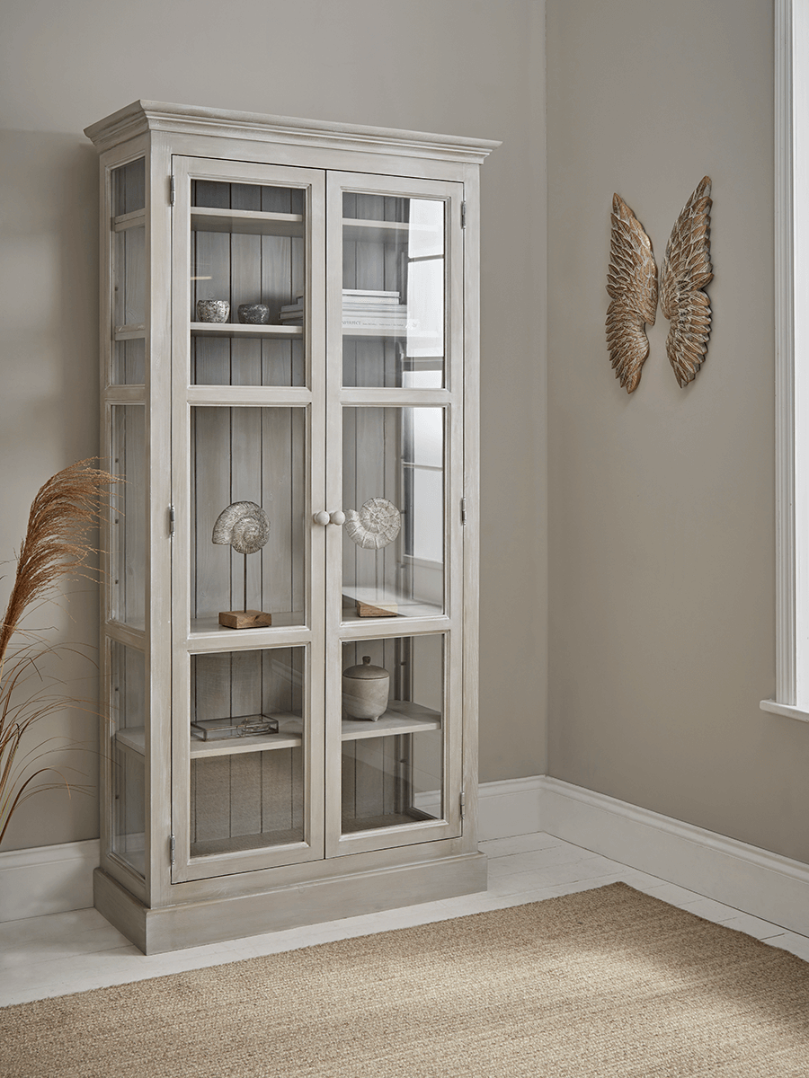 Lotte Tall Glass Display Cabinet