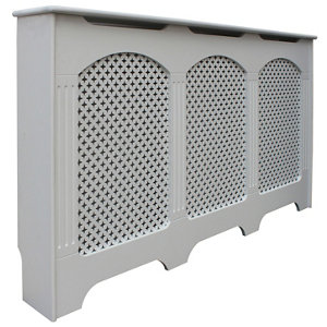 Cambridge Large White Traditional Radiator cover
