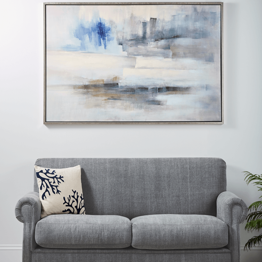 NEW Abstract Sea Framed Canvas